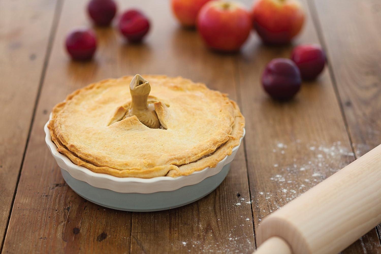 aus Keramik mit gewelltem Rand Kitchen Craft TPCSPIE20 Klassik Kollektion Vom Ofen zum Tisch Runde Kuchenform 20 x 5/cm