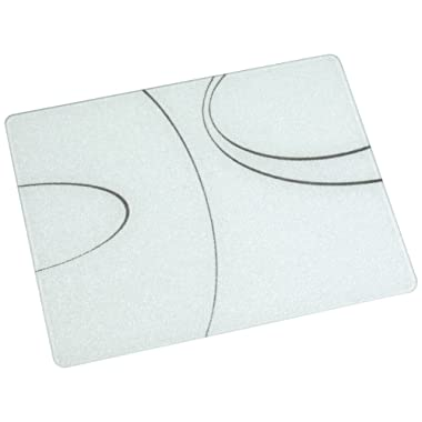 Corelle 91512SLH Corelle Simple Lines 15 x 12  Counter Saver Tempered Glass Cutting Board