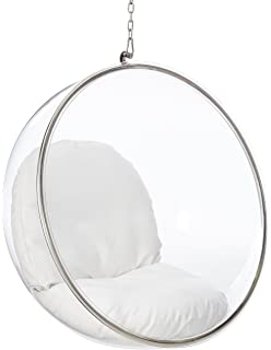 fine mod bubble hanging chair white