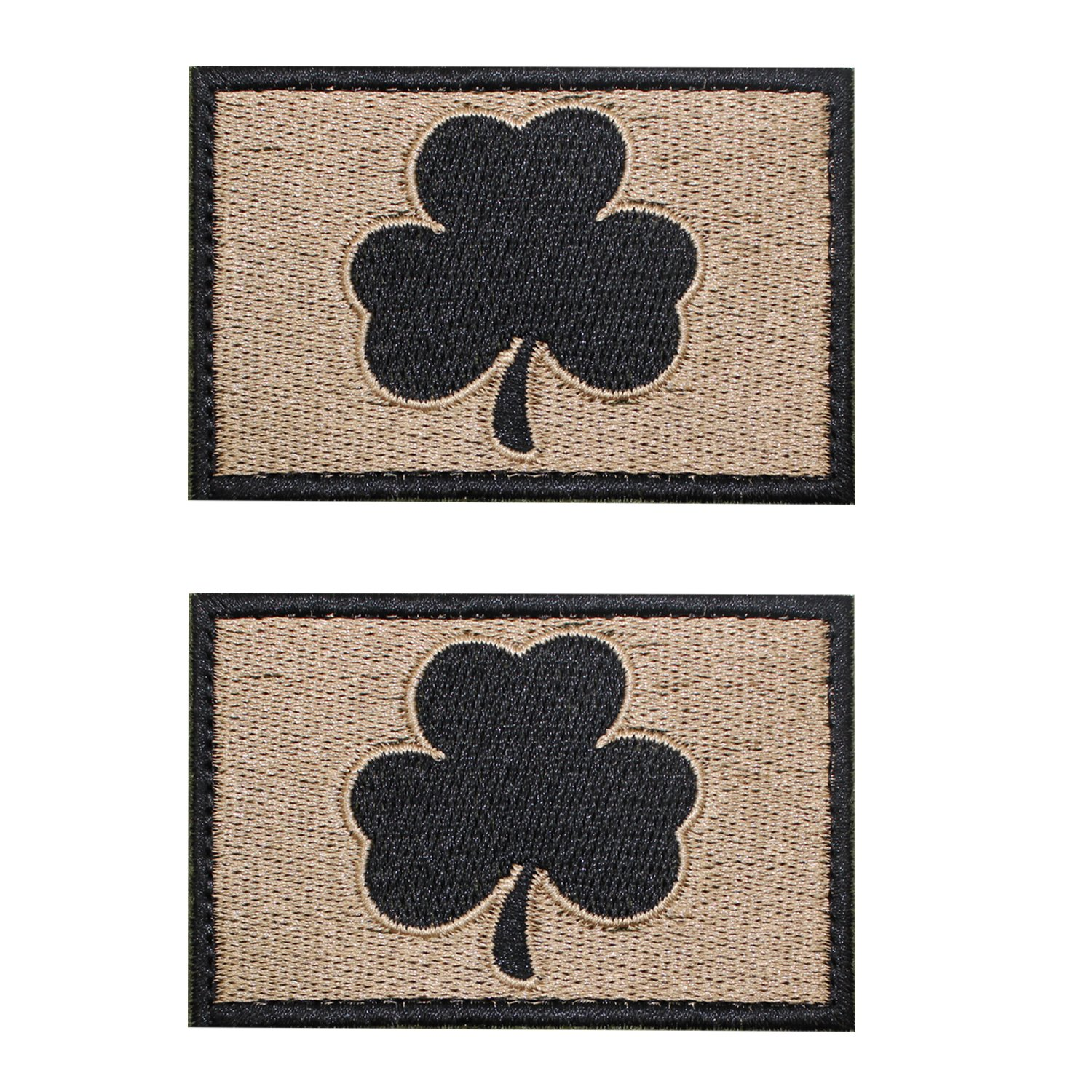 Ejg 2ピースSubdued Irish Clover Tacticalパッチ3 x 2 Militaryパス士気パッチフック&ループの。。。 Subdued Irish Tactical Patch  Mud and black leaves B074MYDCXP