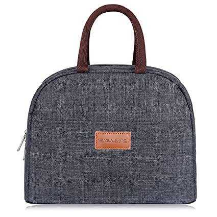 fccaa371c1ee BALORAY Lunch Bag Tote Bag Lunch Organizer Lunch Holder Insulated Lunch  Cooler Bag for Women/Men (Grey)