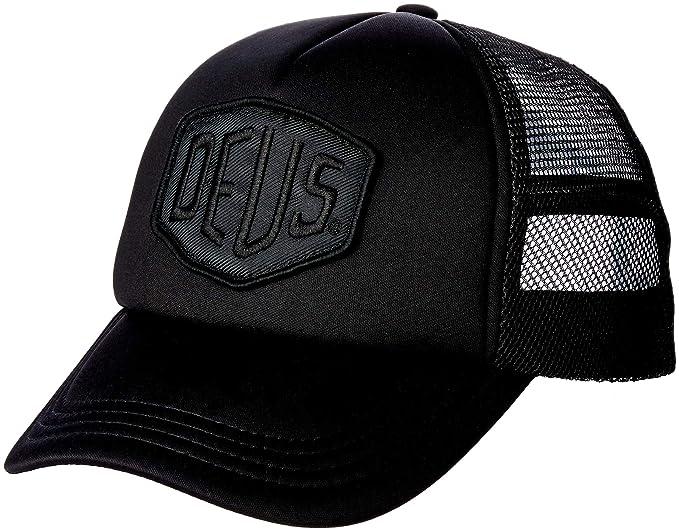 e3d4e4ee34c Deus Ex Machina Baylands Trucker Cap - Black  Amazon.co.uk  Sports ...
