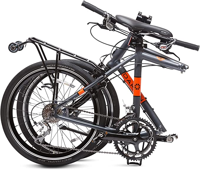 Dahon Dash P18 Bicicleta Plegable, Gris/Naranja, 20