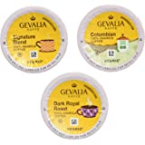 Gevalia Coffee K-Cup Pods Variety Pack, Signature Blend, Columbian and Dark Royal Roast, 36 Count