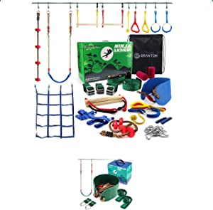 B BRANTON Ninja Slackline 50' + Ninja Swing Bundled