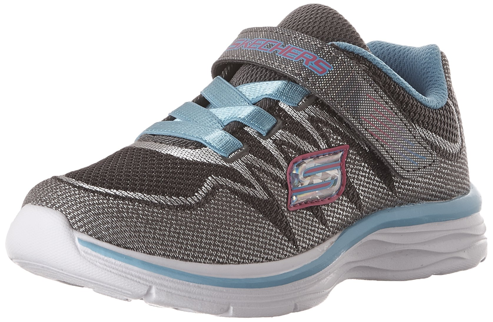Skechers Dream N Dash Whimsy Girl Sneakers Charcoal/Turquoise 3