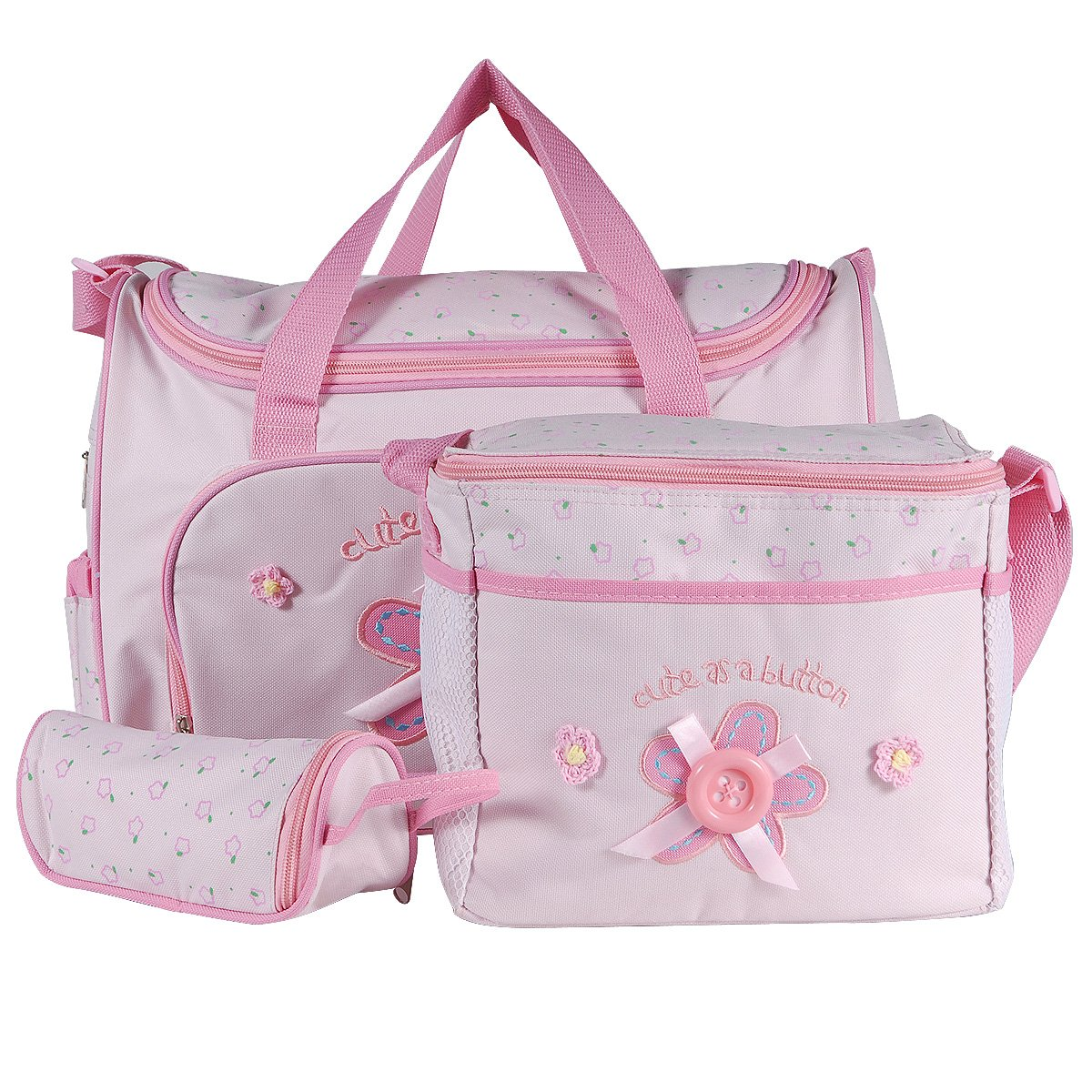 Set 4 kits Bolsa/Bolsillo/Bolso Maternal Rosado biberón carro carrito para Bebé Surepromise
