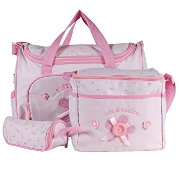 Set 4 kits Bolsa/Bolsillo/Bolso Maternal Rosado biberón carro carrito para Bebé: Amazon.es: Equipaje