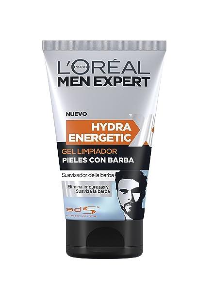 Men Expert Hydra Energetic Gel Limpiador para Piel con Barba - 150 ml
