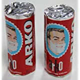 Arko Shaving Soap Stick, White, 75g each by Arko