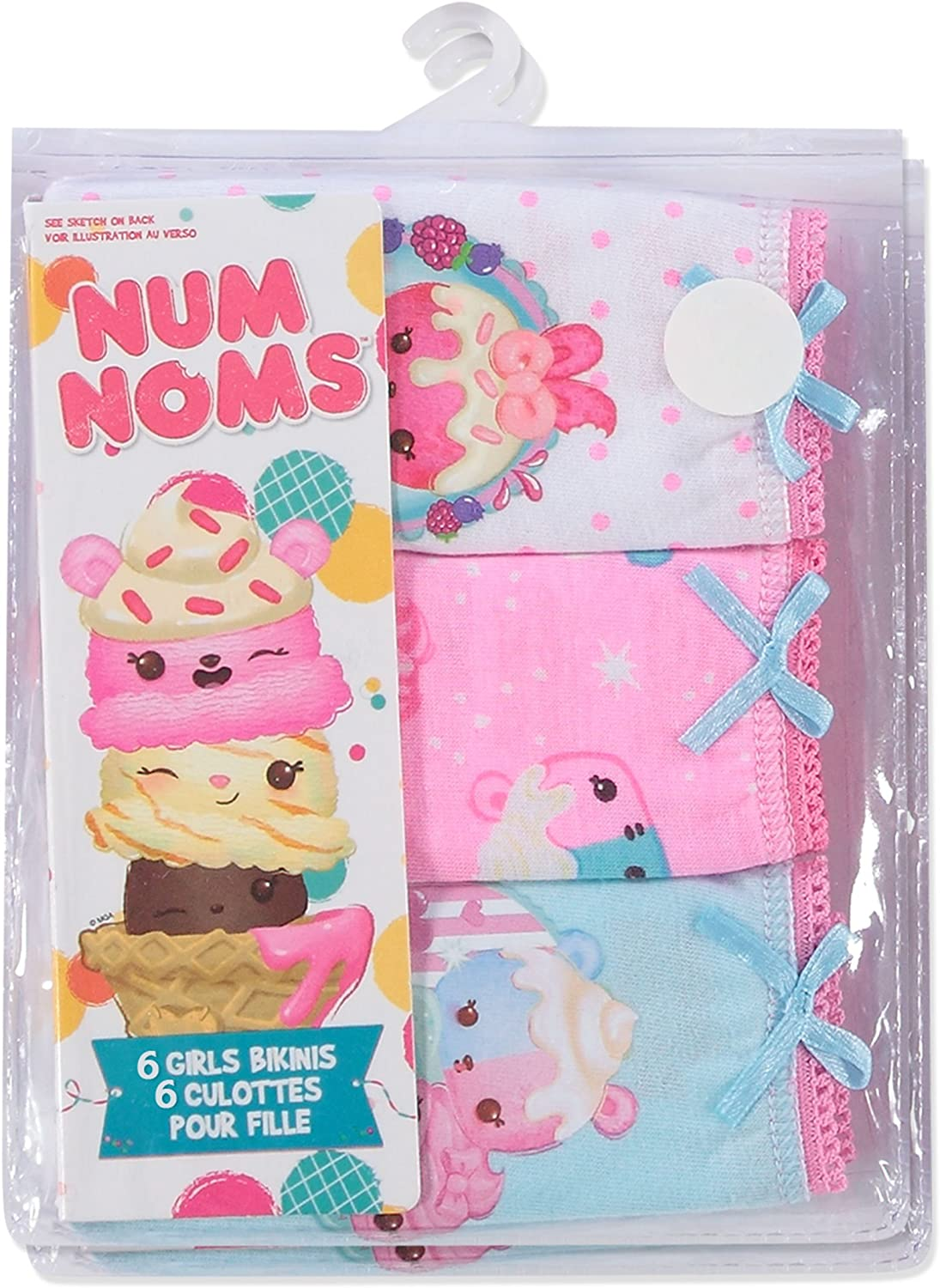 Num Noms Girls Underwear Briefs 6-Pack