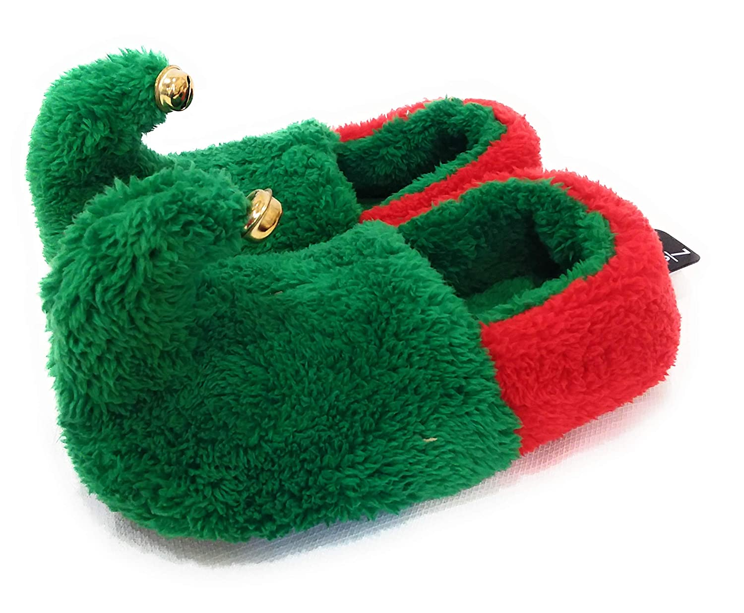 2457a4aa87f6 Womens christmas elf slippers green red bells on toes large slippers jpg  1500x1237 Christmas elf slippers