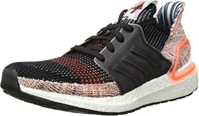 adidas Women's Ultraboost 19 Running Shoe, Black/Crystal White/Solar Orange, 5 M US