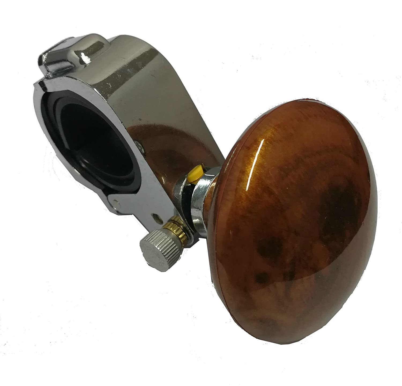 SUKRAGRAHA Car Auto Handle Control Steering Wheel Knob Spinner Power Aid Balls Mahogany Color