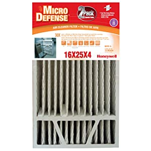 2-Pack 4 INCH MERV 8 Filter, 16X25X4