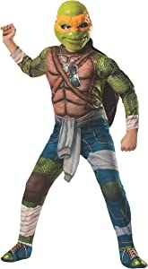 Rubies Teenage Mutant Ninja Turtles Deluxe Muscle-Chest Michelangelo Costume, Small