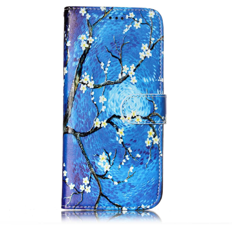 Coque Samsung Galaxy S7 Edge / G935, Lomogo Housse en Cuir Portefeuille avec Porte Carte Fermeture par Rabat Aimanté Anti Choc Etui de Protection pour Samsung Galaxy S7 Edge - YIHU25675 #7