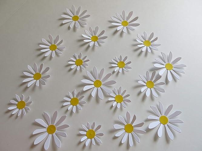 Amazon Cute Daisy Stickers 18 Handmade Paper Flower Wall