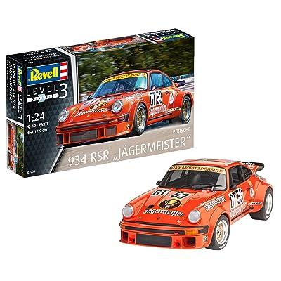 Revell Germany Porsche 934 RSR Jagermeister Model Kit Model Building Kit: Toys & Games
