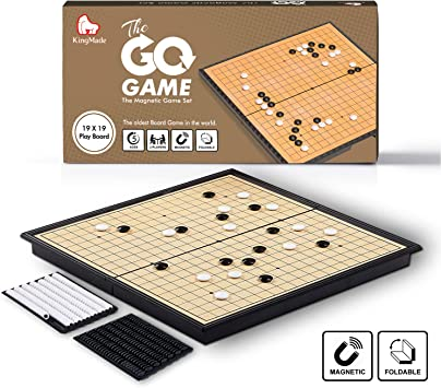 KingMade Juego de Mesa Magnetic Go | Juego de Estrategia portátil Weiqi con Piedras de plástico (11 x 11 Pulgadas): Amazon.es: Juguetes y juegos