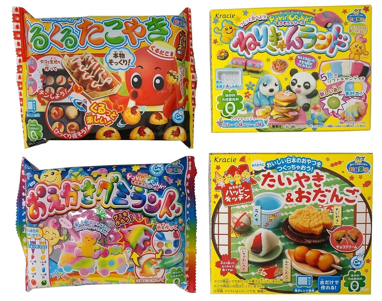 Assortment of 4 Kracie Popin Cookin & Happy Kitchen kits