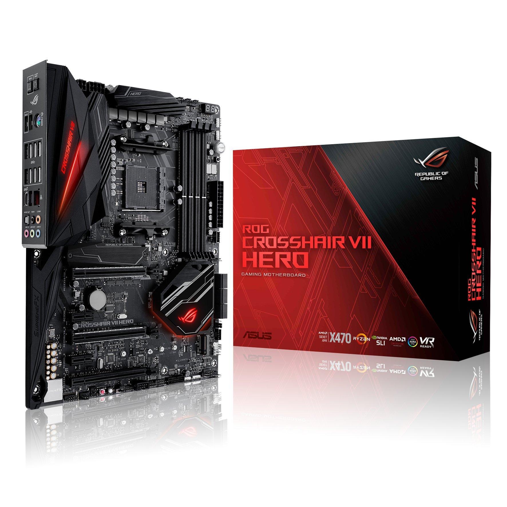 ASUS X470 ROG Crosshair VII Hero Motherboard - Black