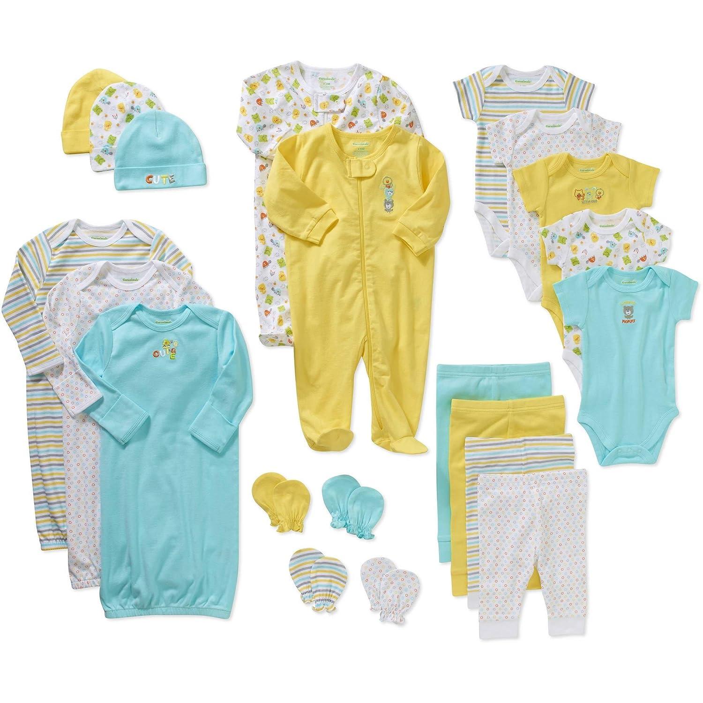 GIFT BOXED Unisex Baby Boys Girls 5 Piece Layette Starter Clothing Set Stars