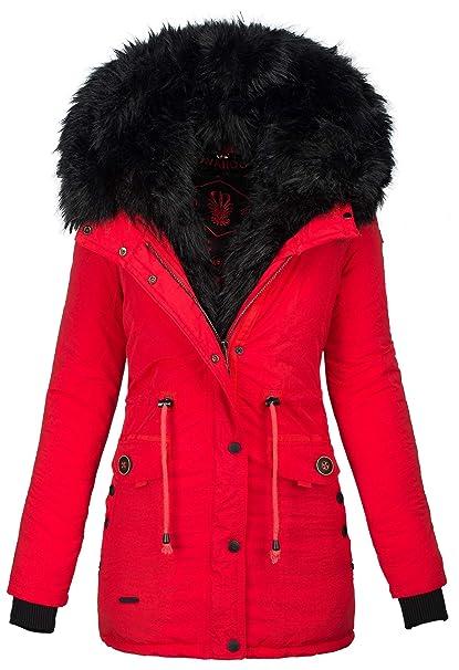 newest collection 9d926 1ad7a Navahoo 2in1 Damen Winter Jacke Parka Mantel Winterjacke warm Fell B365