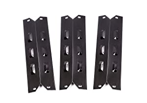 Replace parts 3-Pack Porcelain Steel Heat Shield, Replacement Part Kit for Kenmore 146.23678310, Kenmore 146.23679310, Kenmore 640-05057371-6, Kenmore 640-05057373-6 Gas Grill,(14 7/8'' x 5'')