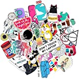 Stickers for Water Bottles Big 50-Pack Cute,Waterproof,Aesthetic,Trendy Stickers for Teens,Girls Perfect for Waterbottle,Laptop,Phone,Travel Extra Durable 100% Vinyl