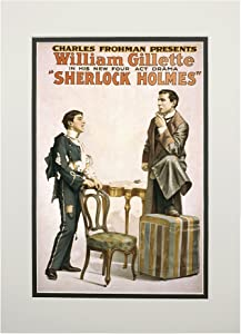 Sherlock Holmes Theatrical Play Poster #3 (11x14 Double-Matted Art Print, Wall Decor Ready to Frame)