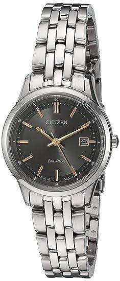 666339afa30 Image Unavailable. Image not available for. Colour  Citizen Women s  Eco-Drive  Bracelet  Quartz Stainless Steel Automatic Watch ...
