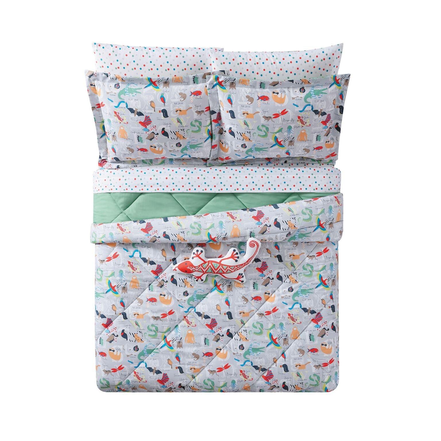 Laura Hart Kids Comforter Set, Twin/Twin XL, Animal Alphabet by Laura Hart Kids (Image #2)