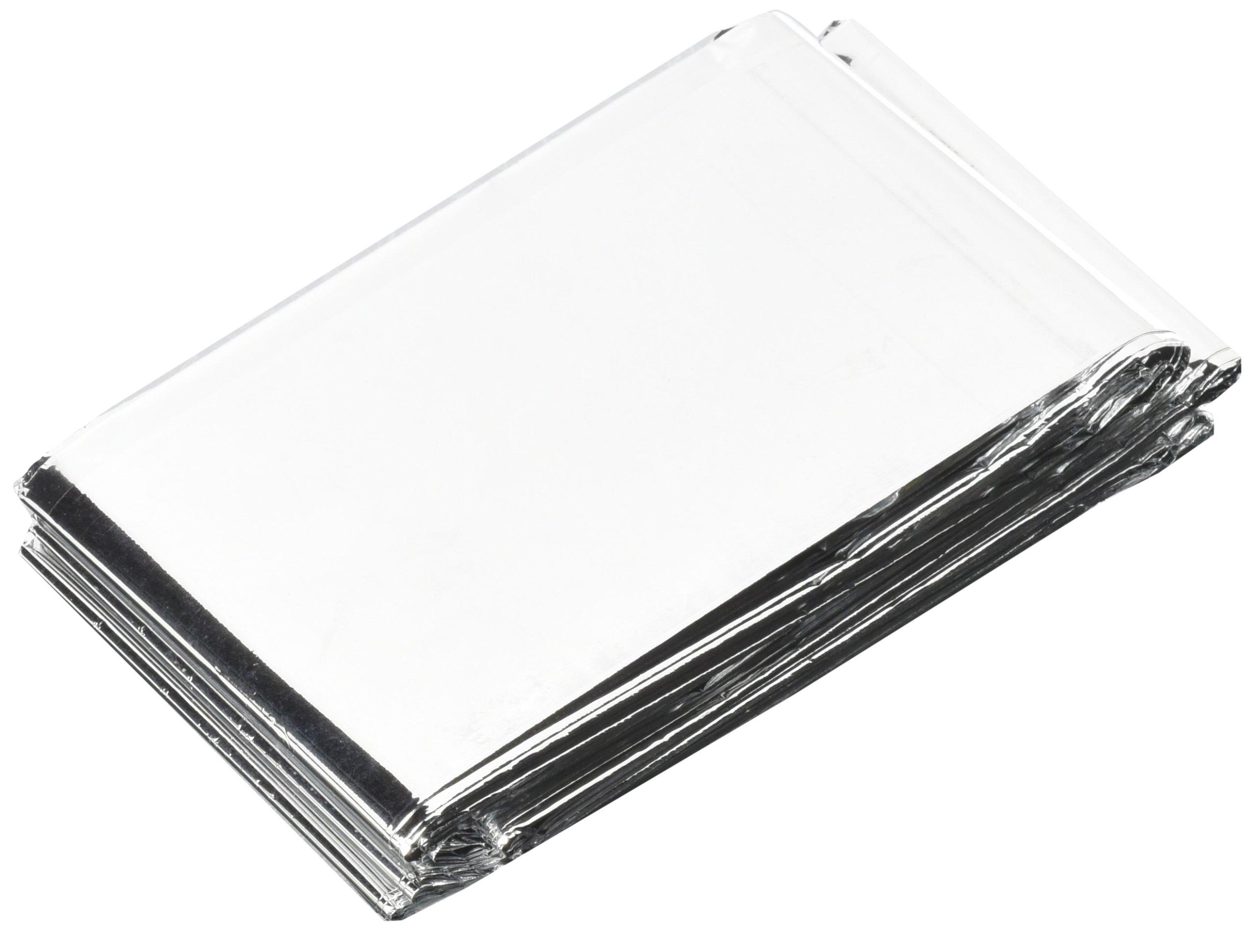 Mocase Outdoor Emergency Rescure Blanket Solar Thermal Space Mylar Blanket 5pcs Silver