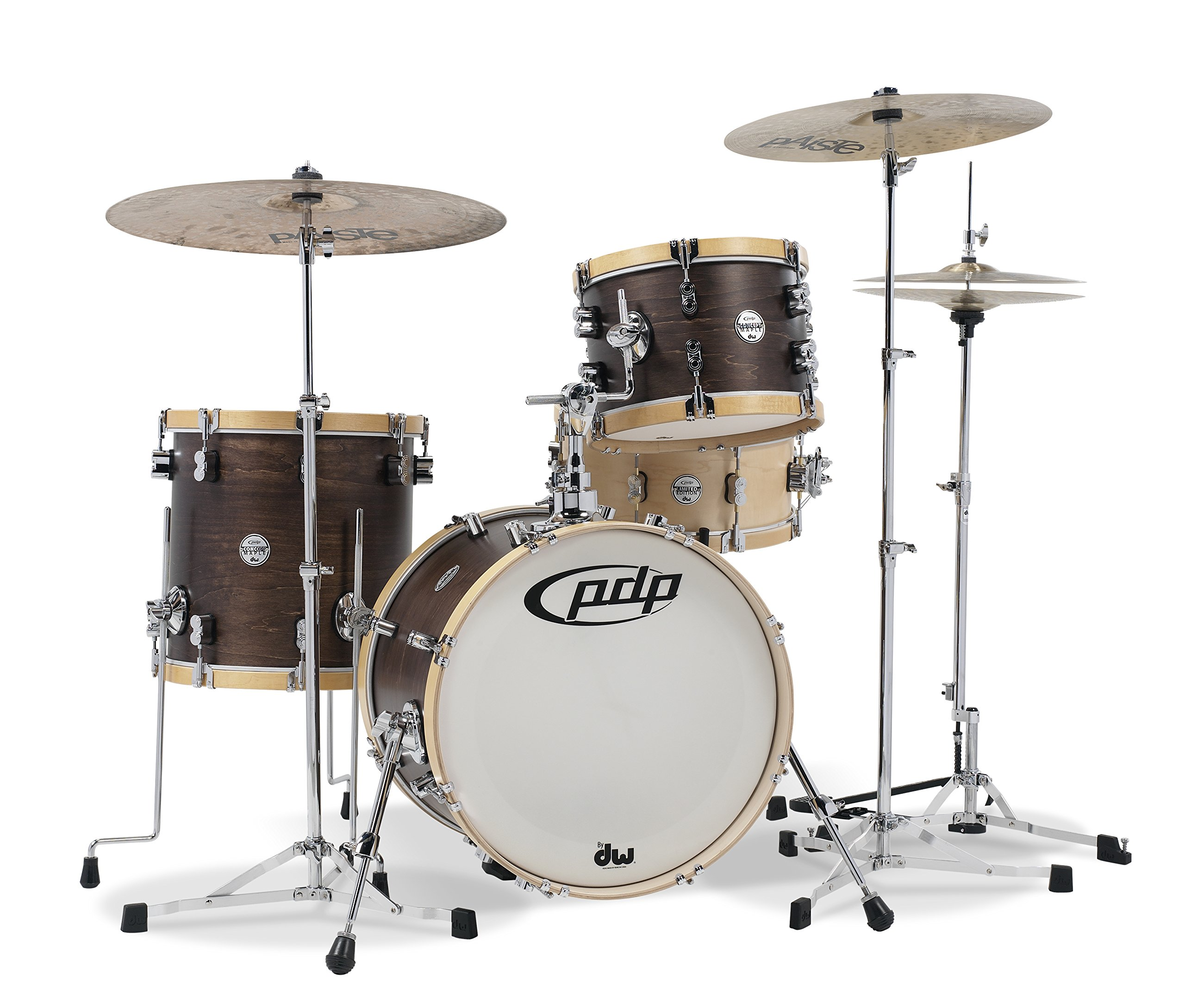 Pacific Drums PDCC1803TN Concept Classic 3-Piece Bop Kit Shell Pack, Walnut/Natural