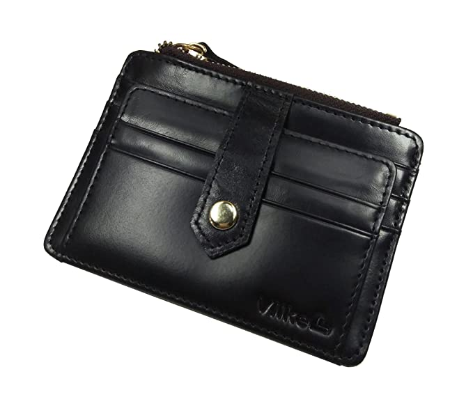 new style 36d60 723c5 Vlike Mini slim Credit Card Case Wallet with ID Window and Zipper Holder  purse