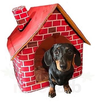 WIWO - Cama de perro con diseño de ladrillo para mascotas en miniatura