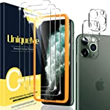 [2+3 Pack] UniqueMe Compatible for iPhone 11 Pro 5.8 inch Tempered Glass Screen Protector and Camera Lens Protector, HD Clari