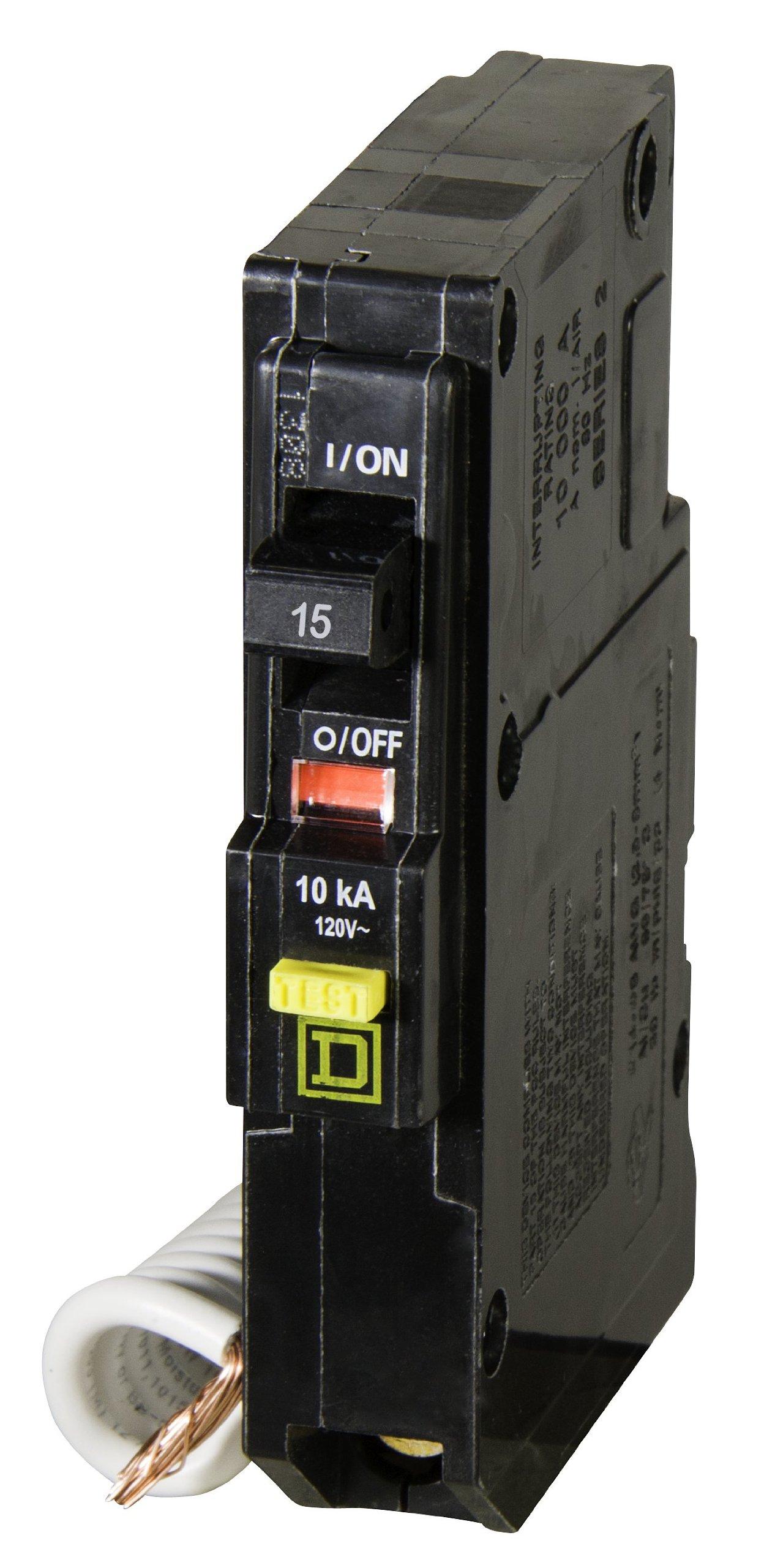 Square D by Schneider Electric QO115GFICP QO Qwik-Gard 15 Amp Single-Pole GFCI Circuit Breaker