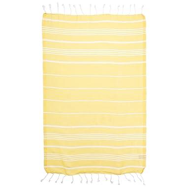 Cacala Hand Face Turkish Towel Pestemal 23x36 Peshtemal Fouta Kitchen Baby Care Yellow