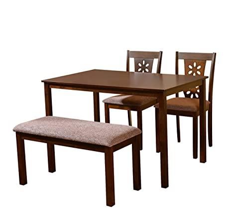93ac43ffc9b  home by Nilkamal Sutlej Four Seater Dining Set (Antique Cherry)  Amazon.in   Home   Kitchen