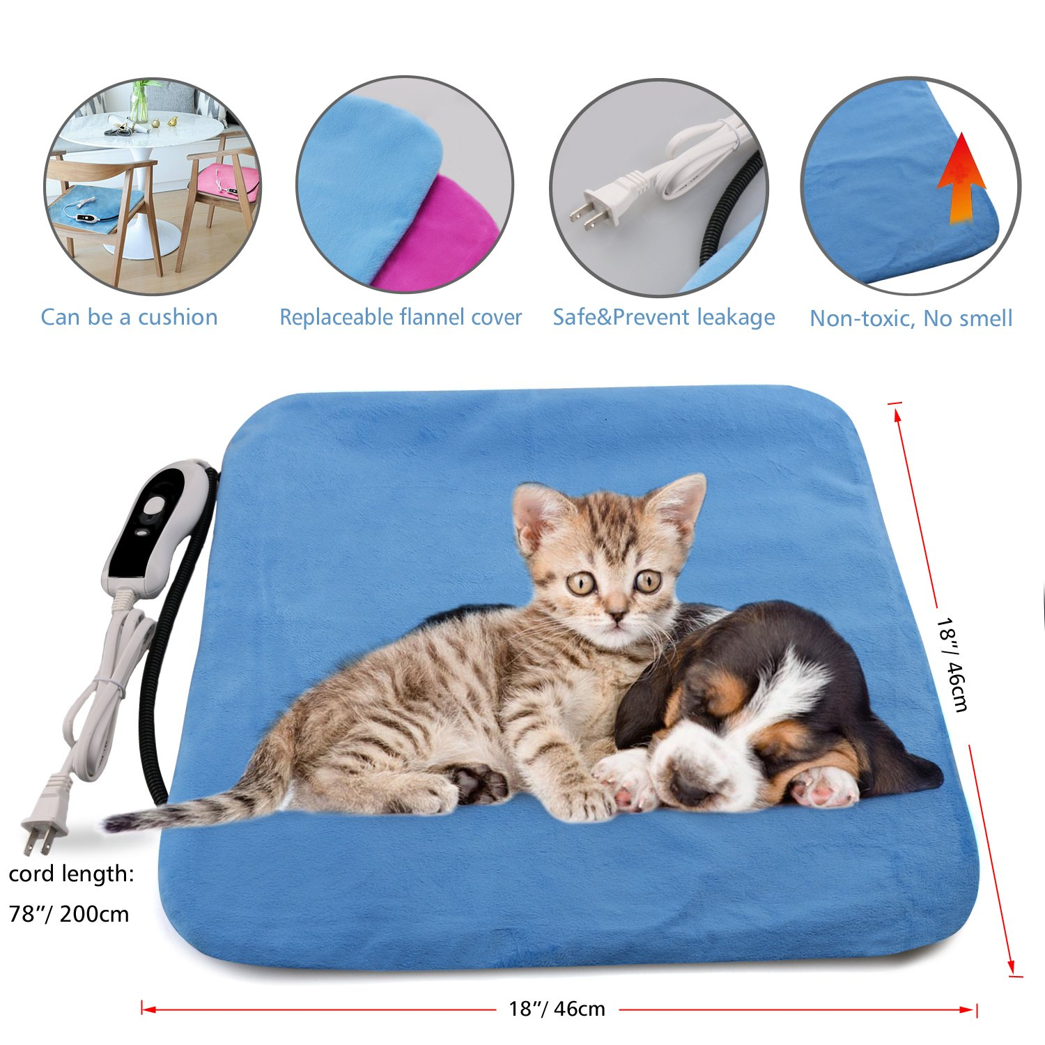 Amazon.com : Pet Heating Pad, Electric Blanket Heating Pad for Dog ...