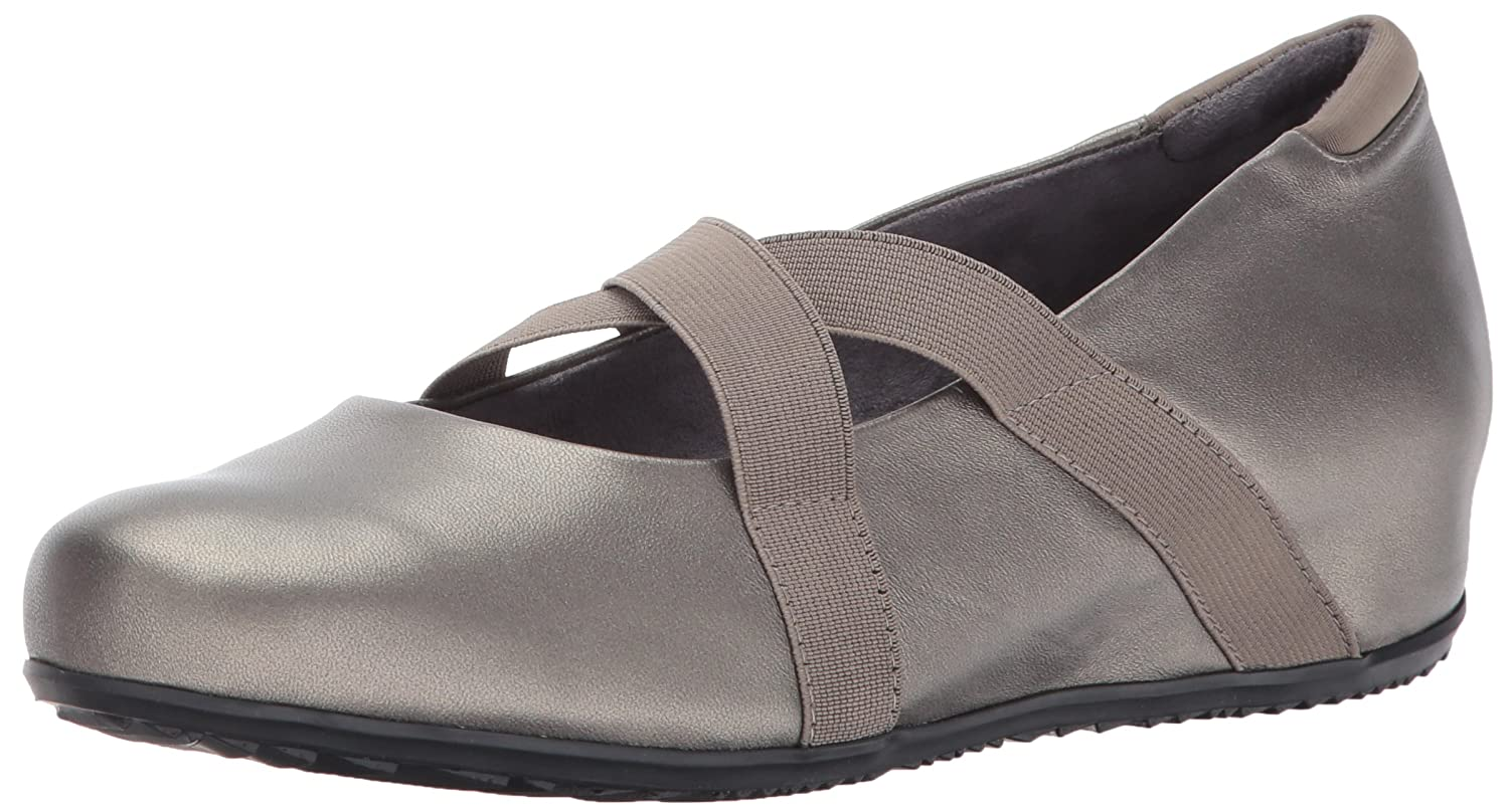 SoftWalk Women's Waverly Mary Jane Flat B01N6J9OLT 9.5 W US|Pewter