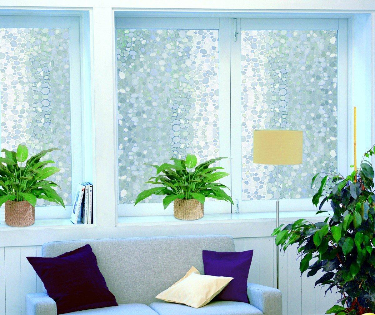 LINEA Fix® Dekorfolie - Fensterfolie - Pebbles - 46 x 150 cm: Amazon ...