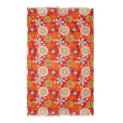 Barceló Hogar Toalla Pareo Polynesia Naranja, 100x200 cm - Foutas, Pareos y Toallas de
