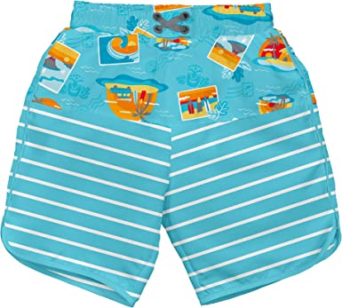 i play by green sprouts Boys Trunks with Built-in Reusable Swim Diaper