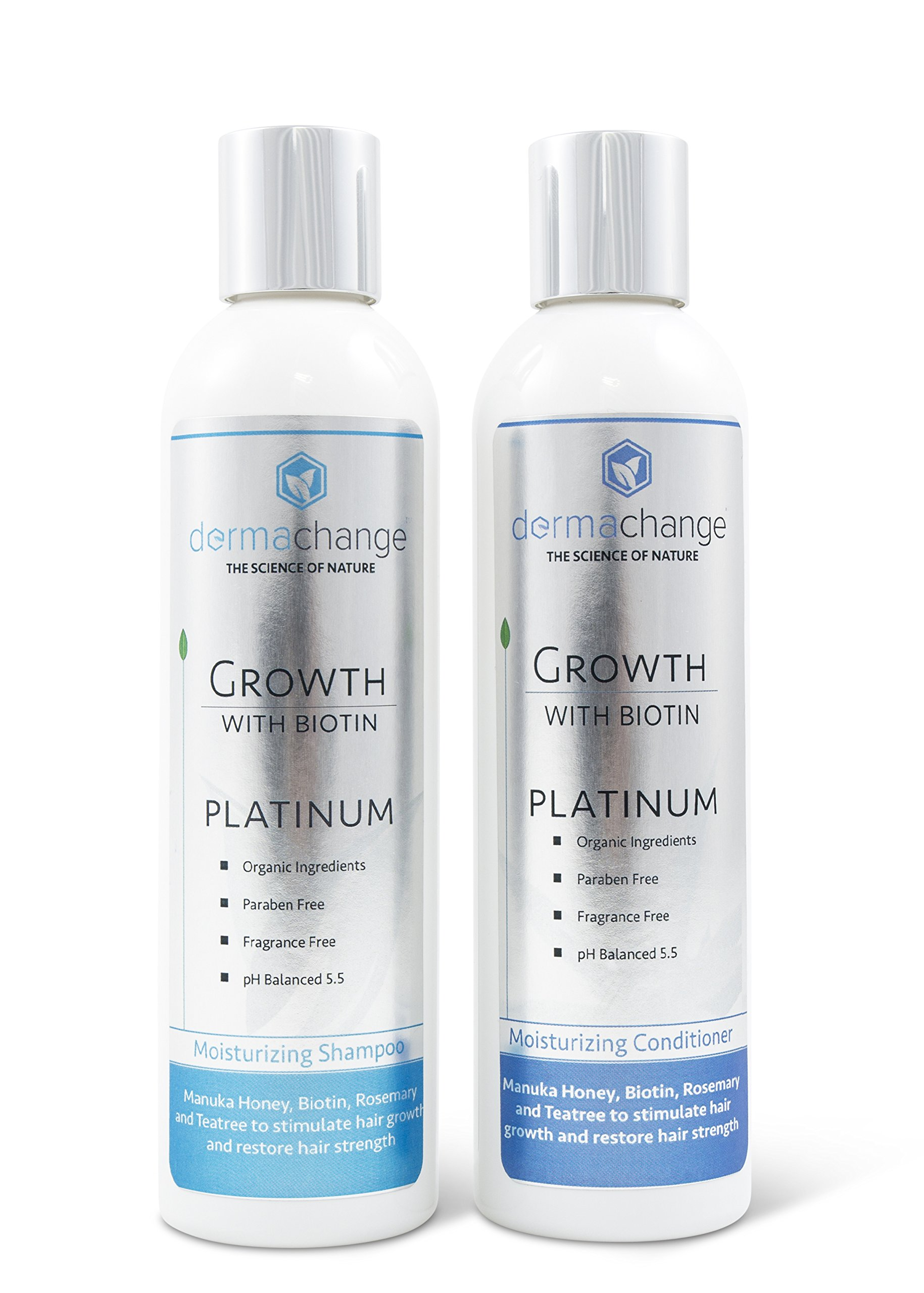 Organic Argan Oil and Biotin Hair Growth Shampoo Conditioner Set - Sulfate Free - Support Regrowth, Volumizing & Moisturizing, Soft on Curly & Color Treated Hair For Men and Woman