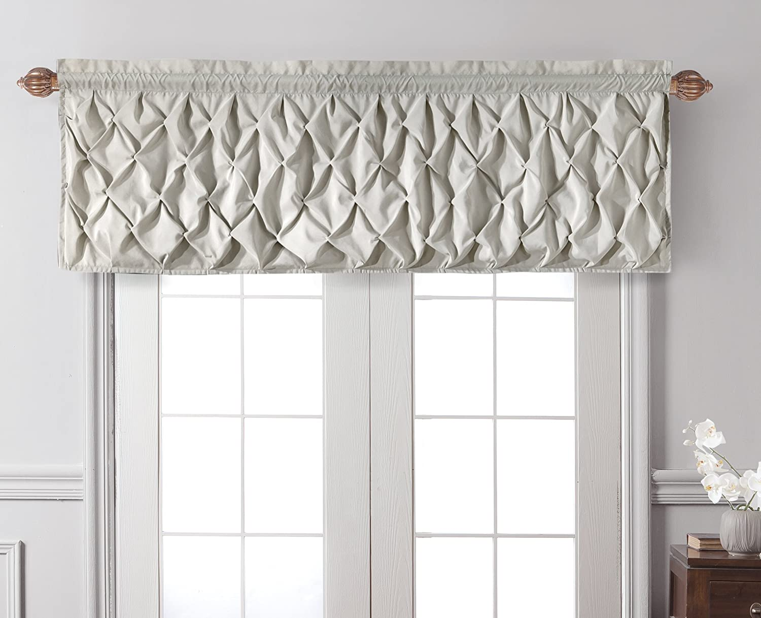home treatment com carmen blue penneys vcny valances window kitchen amazon dp tailored valance