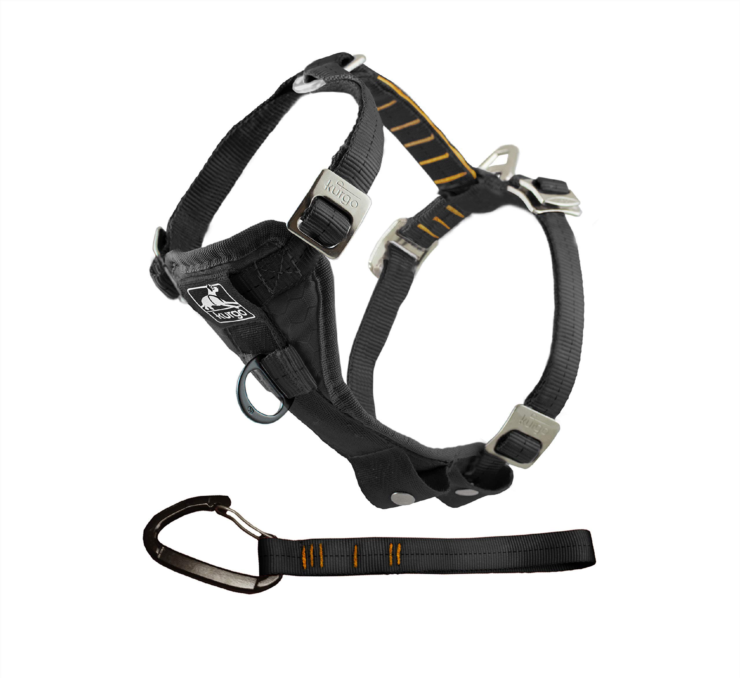 Kurgo Dog Harness | Pet Walking Harness | Car Harness for Dogs | Front D-Ring for No Pull Training | Includes Dog Seat…