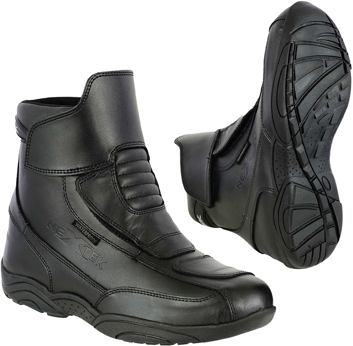 Profirst Global Motorbike Boots Motorcycle Waterproof Riding Shoes Short Ankle Black UK 10 Touring Boot for Mens Boy